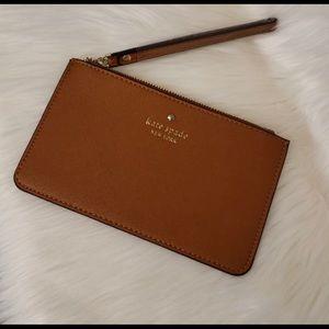Handbags - New Cognac Kate Spade Wristlet Clutch